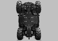 Комплект пластиковой защиты днища CF ATV X8 Н.О. /Х10 ATV IRON 11.1.11-P