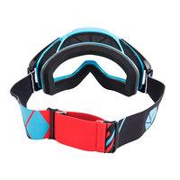 Очки квадроциклетные черно-красно-голубые VSN Goggle Red/Black/Cyan HB-301-Red/Black/Cyn