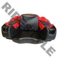 Кофр для квадроцикла задний жесткий с сиденьем из кожи + подогрев рук Quadrax 2k Deluxe Red 19-2082