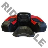 Кофр для квадроцикла задний жесткий с сиденьем из полигеля Quadrax Elite Deluxe Red 19-3582