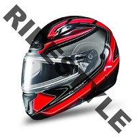 Снегоходный шлем с подогревом HJC CL-MAX II Red