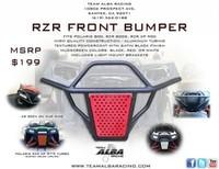 Бампер передний оранжевый для Polaris RZR 900XP/4/800/S/570 Alba Racing 2705-OR
