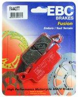 Тормозные колодки карбоновые передние/задние левые Yamaha Grizzly 700/550, Raptor 250 3B4-W0045-10-00/3B4-W0046-00-00 EBC FA443TT