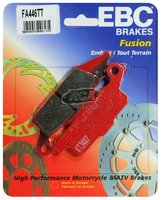 Тормозные колодки карбоновые передние/задние правые Yamaha Grizzly 700/550, Raptor 250 3B4-W0045-00-00/3B4-W0046-10-00 EBC FA446TT