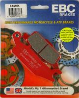 Тормозные колодки карбоновые передние/задние правые Yamaha Grizzly 700/550, Raptor 250 3B4-W0045-00-00/3B4-W0046-10-00 EBC FA446X