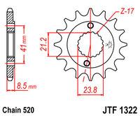 Звезда передняя Honda TRX 400 96-04 15 зубов JTF1322-15