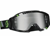 Очки SCOTT TYRANT GOGGLE RACE BLACK/GREEN W CHROME LENS 51-1647