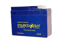 Аккумулятор для квадроцикла/снегохода StarksBat YT 12-2.6 (YTX4A-BS, YTR4A-BS)