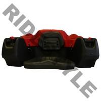Кофр для квадроцикла задний жесткий с сиденьем из полигеля + подогрев рук Quadrax 2k Deluxe Red 19-2582