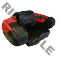 Кофр для квадроцикла задний жесткий с сиденьем из кожи Quadrax Elite Standard Red 19-3072