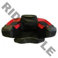 Кофр для квадроцикла задний жесткий с сиденьем из кожи Quadrax Elite Deluxe Red 19-3082