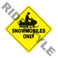 "Желтые пластиковые светоотражающие знаки ""Snowmobiles only"" VOSS SIGNS 439 SNO YR"