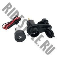 Розетка 12 вольт/прикуриватель квадроцикла/снегохода/мотоцикла EMGO 86-44410