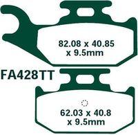 Тормозные колодки задние Yamaha Raptor/Rhino 450/660/700 EBC FA428TT