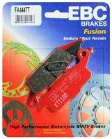 Тормозные колодки карбоновые передние/задние правые Yamaha Grizzly 700/550, Raptor 250 3B4-W0045-00-00/3B4-W0046-10-00 EBC FA444TT