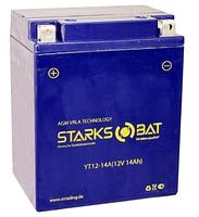 Аккумулятор для квадроцикла/снегохода StarksBat YT 12-14A (YB14A-A2, YTX14-AH-BS, YB12-A2)